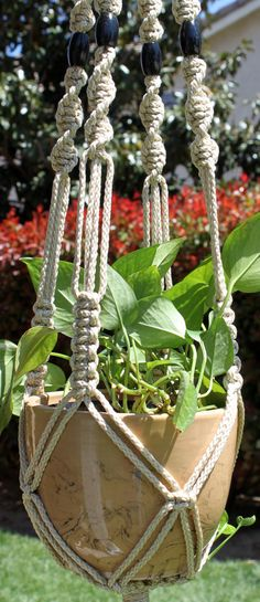Handmade Macrame Plant Hanger by ChironCreations