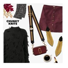 """""""Get Cozy: Chunky Knits"""" by magdafunk ❤ liked on Polyvore featuring Hollister Co., Simone Rocha, Marc Jacobs, Acne Studios, Tom Ford, ankleboots, FallColors, suedeskirts and chunkyknits"""