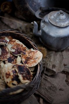 pancakes with corsican cheese & chestnuts