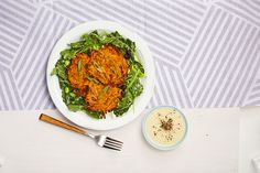 Sweet Potato Cakes with Kale and Bean Salad  - Delish.com
