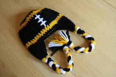 Hey, I found this really awesome Etsy listing at http://www.etsy.com/listing/120995935/pittsburgh-steelers-earflap-hat-crochet