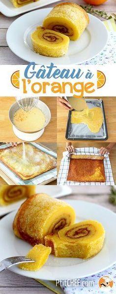Orange swiss roll from portugal - torta de laranja, Recipe Petitchef Food Wishes, Portuguese Recipes, Food Videos, Sweet Recipes, Cupcake Cakes, Dessert Recipes, Food And Drink, Yummy Food, Snacks