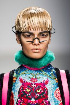 Funky Fashion at the Manish Arora runway show in Paris.