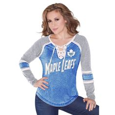 Toronto Maple Leafs Touch by Alyssa Milano Women's Hat Trick Long Sleeve T-Shirt Ð Royal Blue