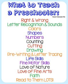 Homeschool Preschool - Teach Beside Me