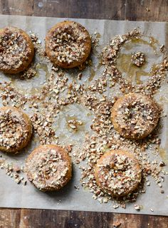 Sweet Potato Pecan Pie Doughnuts with Roasted Pecan Crunch | How Sweet It Is