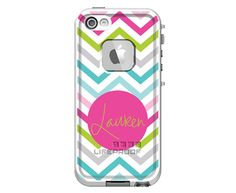 Sassy Chevron Monogrammed LifeProof Fre iPhone 5/5s, iPhone 5c or iPhone 4/4s Personalized Phone Case on Etsy, $99.00