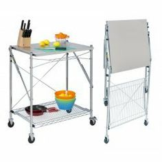 Stainless Steel Folding Work Table by Honey-Can-Do