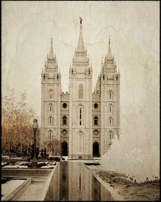 The Salt Lake City Utah Temple 20x24 Custom by AltusPhotoDesign