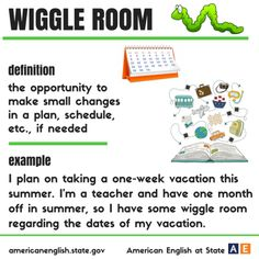 Wiggle Room definition #idiomas #inglés #Anglés