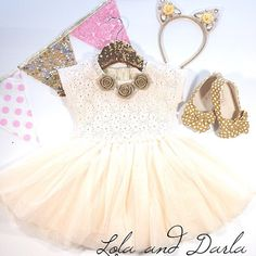 Adorable look for girls by @Arline Allen #lolaaanddarla #taylorjoelle #lacetutudress #bitsyblossom #kidsfashion #tinystyle