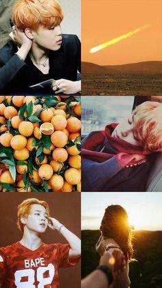 Kpop Wallpaper Asthetic Orange - Jimin - BTS