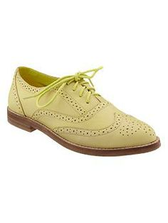 really want a pair! Perforated oxfords