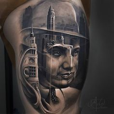 The work of artist Arlo DiCristina is like nothing we've ever seen before, the realism he manages to capture within his tattoo work is absolutely stunning. 3d Tattoos, Body Art Tattoos, Sleeve Tattoos, Tatoos, Body Painting, Air Brush Painting, Chicago Skyline, Arlo Tattoo, Ozzy Tattoo