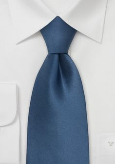 Solid Colored Tie in Dragonfly Blue | Bows-N-Ties.com