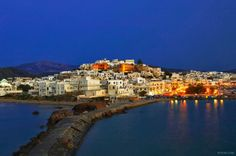 Naxos is a Greek island, the largest island in the Cyclades island group in the Aegean. It was the centre of archaic Cycladic culture.