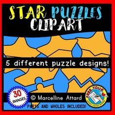 STAR PUZZLES CLIPART: SELF-CORRECTING PUZZLE TEMPLATES: PATRIOTIC CLIPART ★Click to view this resource! ★
