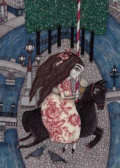 "Saatchi Art Artist Judith Clay; Drawing, ""My Summer Days"" #art"