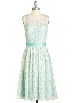 Lacy in Love Dress in Mint. Such a funny thing for you to try to explain - but this mint-green, ModCloth-exclusive frock just makes your heart swoon.