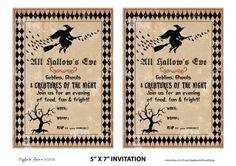 Free Printable Halloween Invitations Template | Best Template ...