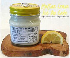 House 33 Candle Co. | organic soy beeswax candles scented with essential oils - mason jar soy wax beeswax candle No.1 The Cottage, Italian Lemon Ice-Box Cake scent, essential oil fragrance, handpoured, $12.50 (http://www.house33candleco.com/mason-jar-soy-wax-beeswax-candle-no-1-the-cottage-italian-lemon-ice-box-cake-scent-essential-oil-fragrance-handpoured/)