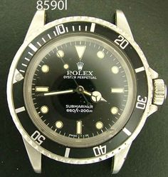 Rolex Submariner, 1967, steel, Reference # 5512/5513