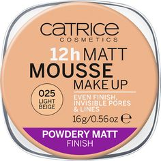 CATRICE 12h Matt Mousse Make up 025 Light Beige