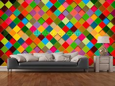 Retro Grunge Poster Design wall mural room setting
