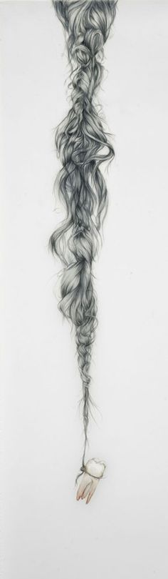 just love how messy and tangled the braid is