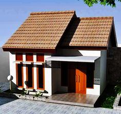 41 Simple Minimalist 1 Floor Model Homes -As we know that how to choose the latest home design models that we are always looking for buildin. Shed Design, Home Design Plans, Bungalow House Design, Modern House Design, Minimalis House Design, Model House Plan, Bamboo Architecture, Architecture Plan, Latest House Designs