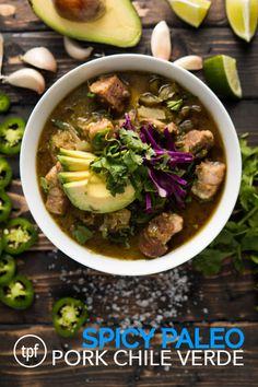 Spicy Paleo Pork Chile Verde - The Paleo Fix