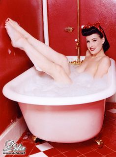 Not enough room for your friends in your current jacuzzi? Then you need a vacation at Terra Cotta Inn, sunny palm Springs, CA. Our state of the art salt water system jacuzzi is 16ft x 8ft. Large and comfortable for you and all the new friends you make at TCI.Dita von Teese - Burlesque and Pinup artist