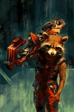 Going back to my neglected color challenge! I had a lot of fun painting this one. One day I want to do a Guardians cover… a girl can dream… Orange for #7daysofcolor, featuring Rocket Raccoon. OH AND come see me at NYCC's Artist Alley next week, table...