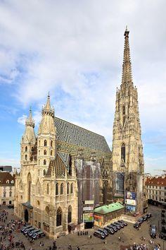 GOTHIC ARCHITECTURE - St Stephen cathedral, Vienna, Austria, 1370-1433 (tower begun in 1359).