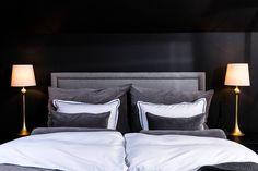 that continental feeling: soverommet vårt - Caroline Berg Eriksen Bedroom Inspo, Bedroom Decor, Headboard Designs, California Homes, Decoration, Interior Inspiration, Bed Pillows, House Plans, Furniture