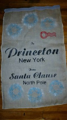 Check out this item in my Etsy shop https://www.etsy.com/listing/211323432/personalized-santa-sack-stocking-made