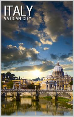 Sunset over Vatican City – home to St. Peter's Basilica, the Sistine Chapel, and numerous museums.   Explore Italy like an Insider with Guided Tour Vacations and see all the key sites with an expert guide. Book your next tour with Explore Cruise & Travel for exclusive member rates, early booking discounts, and repeat booker bonuses. #USAATravel #USAAShopping