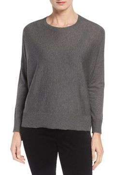 Eileen Fisher Ballet Neck Boxy High/Low Pullover (Regular & Petite) available at #Nordstrom