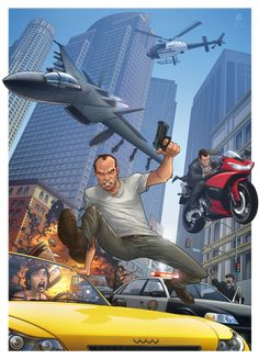 GTA 5. I like the style of this drawing.