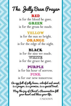 Jelly bean poem easter resurrection craft jelly beans poem the creative world of great day graphics design free printable jelly bean prayer for negle Gallery