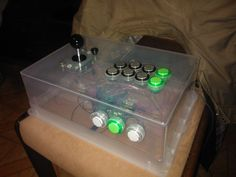 First working prototype of my custom build Arcade Fightstick. The orrible plastic case i just temporary.