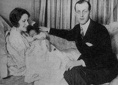 Audrey Emery, newborn son Paul and Grand Duke Dmitri