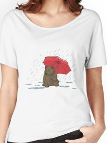 Drizzly Bear Women's Relaxed Fit T-Shirt