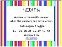 free posters to help with mean median mode and range more median mode ...
