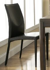 Bellini Glide Leather Dining Chair -- sleek and slim curves