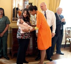 Playing with a Baby at the White House