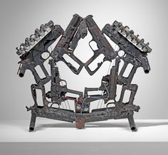 Disarm: A Mechanized Orchestra of Instruments Built from Decommissioned Weapons  http://www.thisiscolossal.com/2013/09/disarm-pedro-reyes/