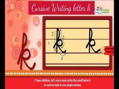 Cursive Letter Writing for Children - small letter k - Kids Educational Videos