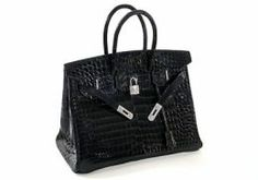 Top Ten Most Expensive Bags and Purses in the World 6. Hermes Matte Crocodile Birkin Bag - $120,000 Named after British singer/actress Jane Birkin. The clasp of this tote boasts 10 carats of white diamonds. The bag itself is made of crocodile. You can get cheaper versions sarting at around $5000