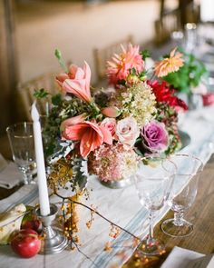 """Brides still love a rustic wedding theme but are swapping out the mason-jar/burlap vibe with something more glam. """"We're elevating the rustic venue by incorporating candelabras, greenery, garlands, and lush, romantic florals,"""" says Alee. """"Just because you're in a barn it doesn't mean you need to go with hay and wildflowers!"""""""